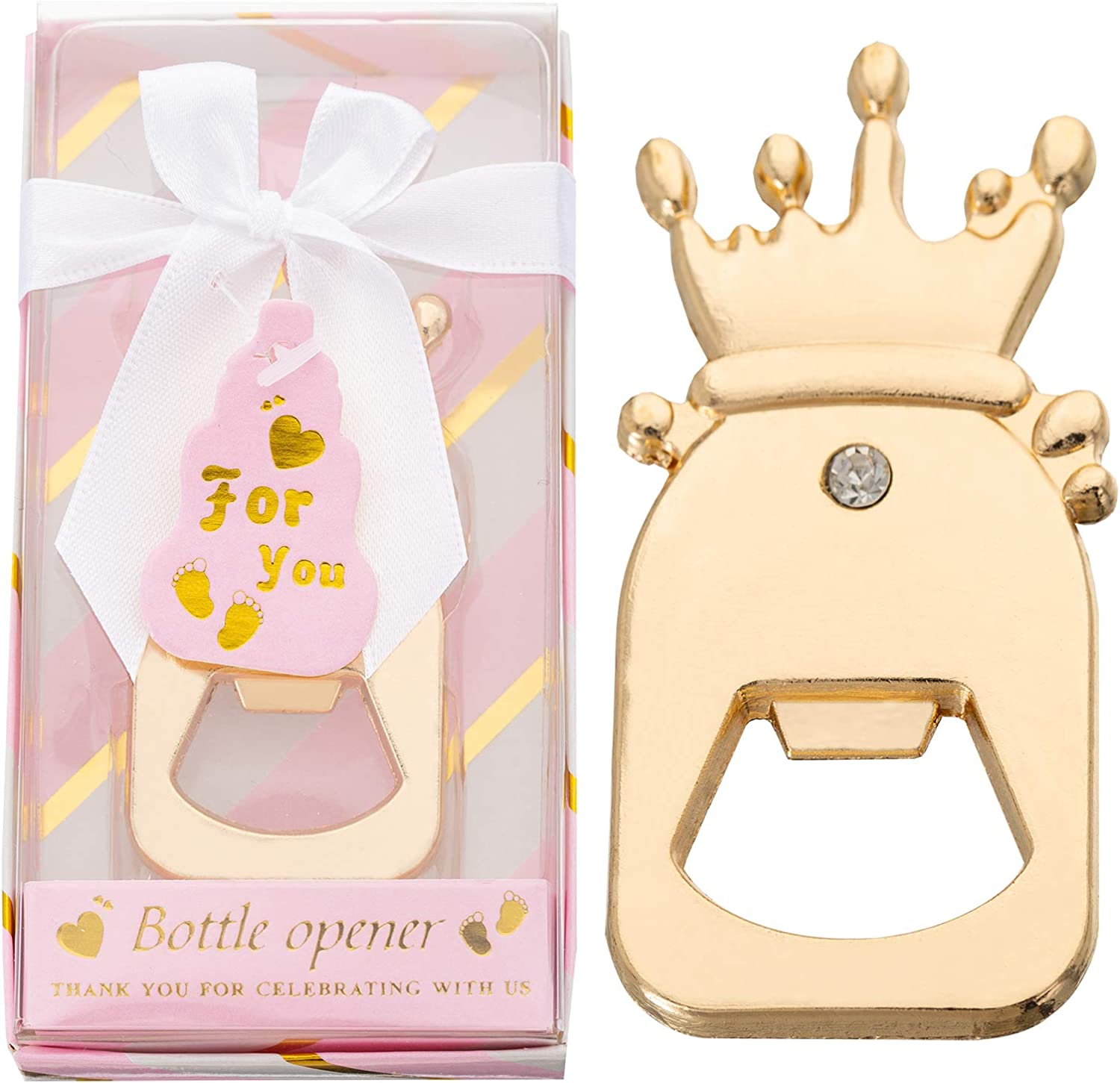 12PCS Crown Direct stock discount Shaped Baby Bottle Shower Sales Opener for Ba Favors