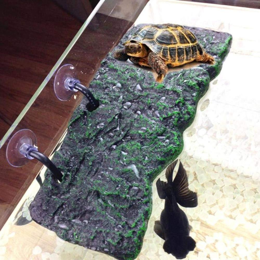 Guooe Acuario Marino, Nueva Resina Tortuga Anfibios Tortuga Peregrino Plataforma De Reptiles Tanque Agua Acuática Escalera De Roca Escalada De Isla Escalada: Amazon.es: Productos para mascotas