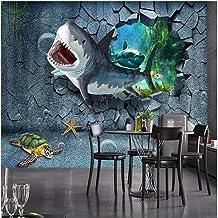Custom foto muurschildering 3d behang Onderwaterwereld haai muur TV achtergrond woondecoratie woonkamer behang voor muren ...