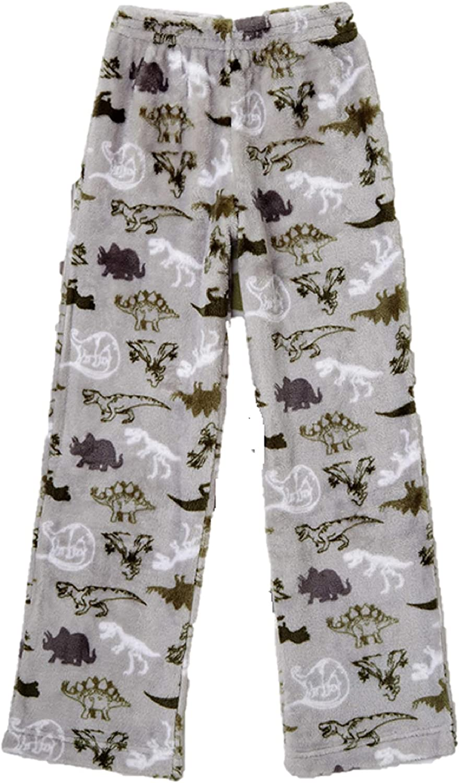 Boys Green Dinosaur Fleece Sleep Pants