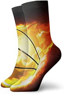 Luxury Calcetines de Deporte Basketball Fire Sport Adult Short Socks Cotton Cute Socks for Mens Womens Yoga Hiking Cycling Running Soccer Sports