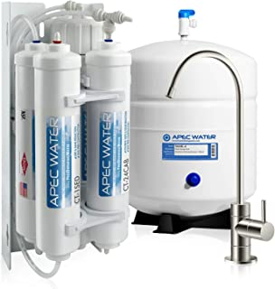 APEC Water Systems RO-QUICK90 Ultimate Supreme Compact Size with Quick Connect Easy Change Filters Undersink Reverse Osmosis System