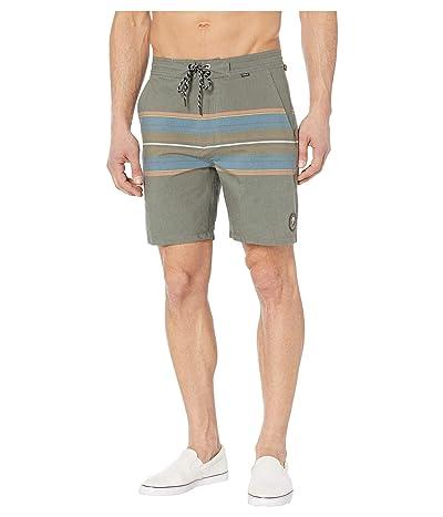 Hurley 18 Beachside Pendleton Olympic Boardshorts (Dark Grey) Men