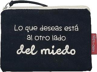 Hello-Bags Bolso Monedero/Billetero/Tarjetero, Algodón 100%, con Cremallera y Forro Interior, Incluye sobre Kraft de Regal...