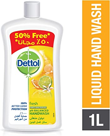 Dettol Fresh Anti-Bacterial Liquid Hand Wash 1000ml with 50% Free