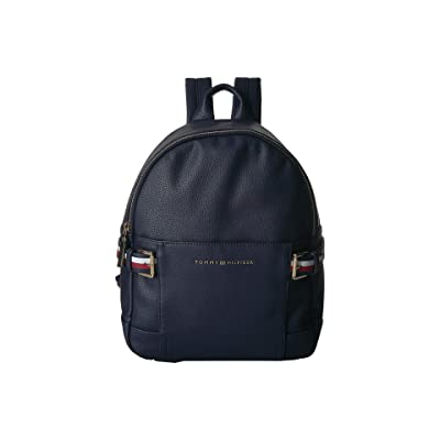 Tommy Hilfiger Meriden Pebble PVC Backpack (Tommy Navy) Backpack Bags