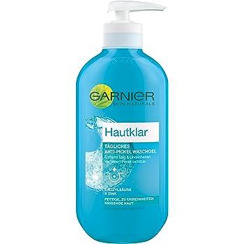 GARNIER Hautklar Anti-Pickel Wasch Gel / tägliche Gesichtsreinigung für sichtbar reinere Haut - antibakteriell + dermatologisch getestet, 1er Pack - 200 ml