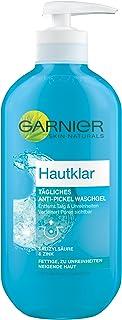 Garnier Hautklar Tägliches Anti Pickel Waschgel, Mitesserentferner mit Zink und Salicylsäure, Gesichtsreinigung, 200 ml