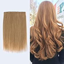 """Lovrio 16"""" 9A Grade Halo Human Hair Invisible Wire Real Hair #27 Caramel Blonde Flip in Hair Extensions Secret Wire Hairpiece for Women"""