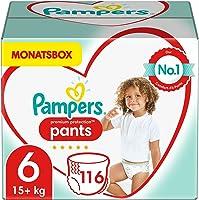 Pampers Baby Windeln Pants Größe 6 (15+ kg) Premium Protection, 116 Höschenwindeln, MONATSBOX, Weichster Komfort Und...