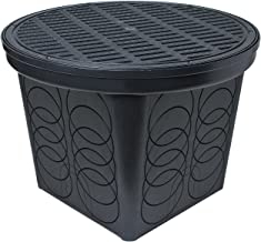 StormDrain FSD-3017 20 in. Large Round Catch Basin with Black Grate Kit