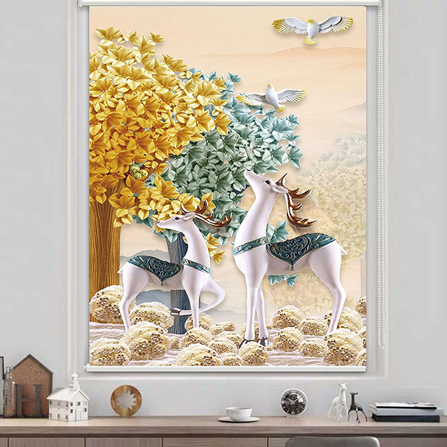 ZWLI Window Blinds Roller New color Shades for SALENEW very popular! Prot UV Windows Home Office
