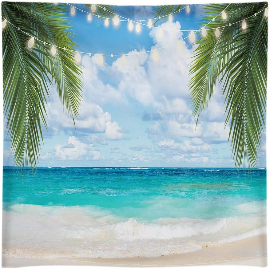 Funnytree Max 75% OFF 8x8FT Soft Classic Fabric Beach Tropical Photography Backdrop