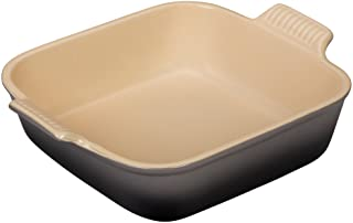 "Le Creuset Stoneware Heritage Square Dish, 3 qt. (9""), Oyster"