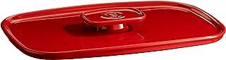 Emile Henry EH340052 Couvercle pour Plat à Four, Céramique, Rouge Grand Cru