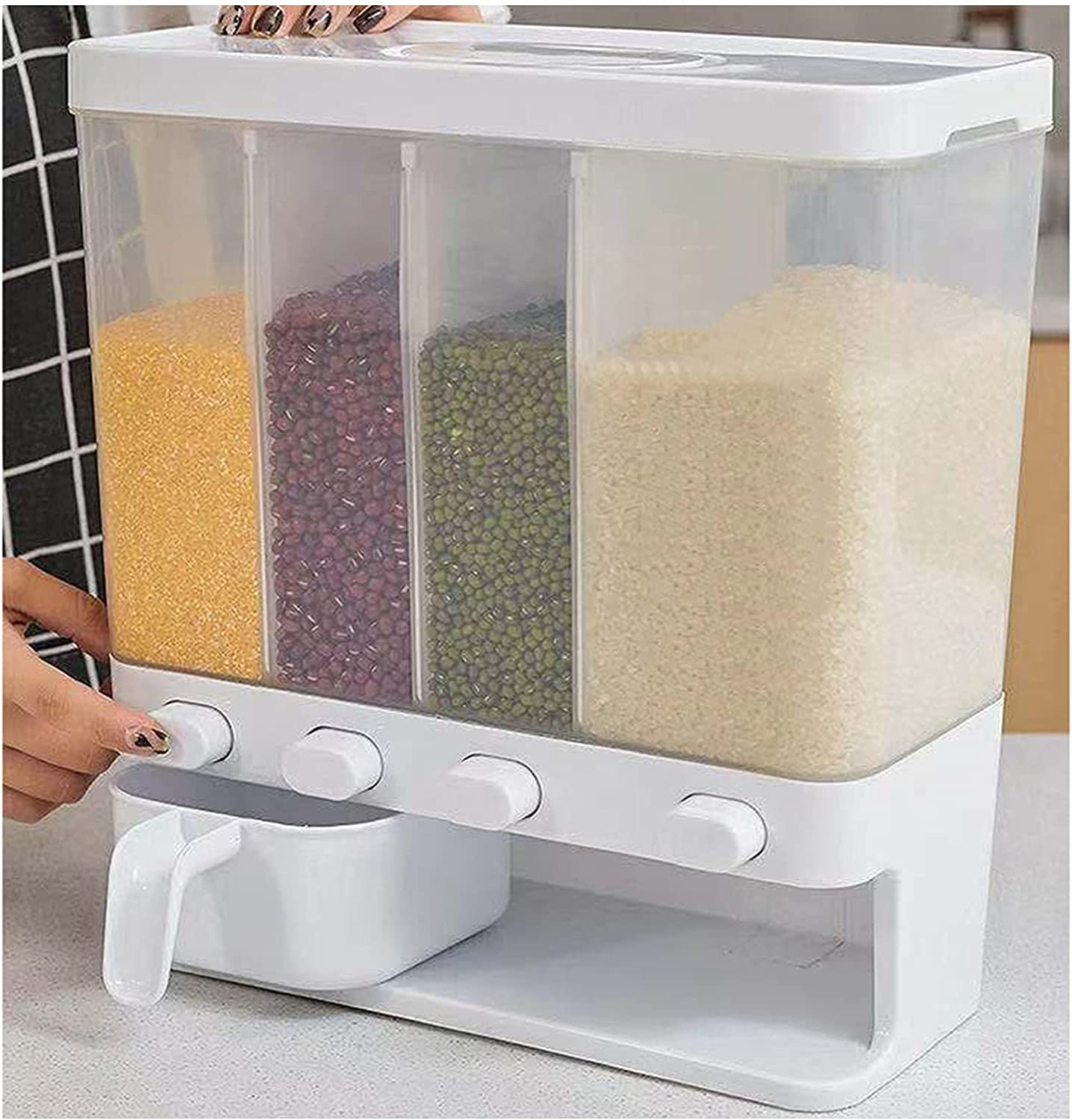 Wall Mounted Cereal Dispenser Kitchen Ri Clearance SALE Surprise price Limited time Container Sealed Grain