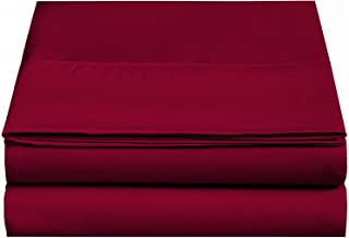 CC&DD HOME FASHION 天鹅绒超细纤维床单 红色 2-Pack Full FLT