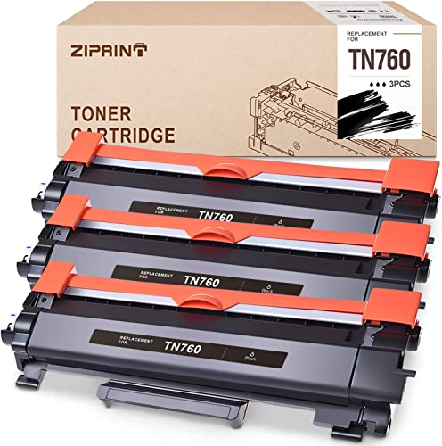 new arrival ZIPRINT outlet online sale Compatible Toner Cartridge Replacement high quality for Brother TN760 TN-760 TN730(with CHIP) use with HL-L2350DW MFC-L2710DW HL-L2395DW MFC-L2750DW DCP-L2550DW HL-L2370DW HL-L2390DW printer (Black, 3Pack) sale
