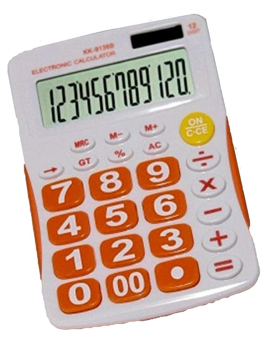 彼らは支援するなぞらえるMokando Electronics KK-9136BO 12桁 デュアルパワー 標準機能デスクトップ電卓 (オレンジ)
