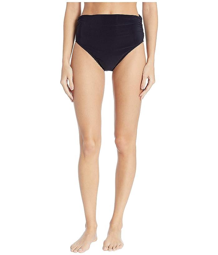 Magicsuit Jersey Brief w/ Shirring (Black) Women