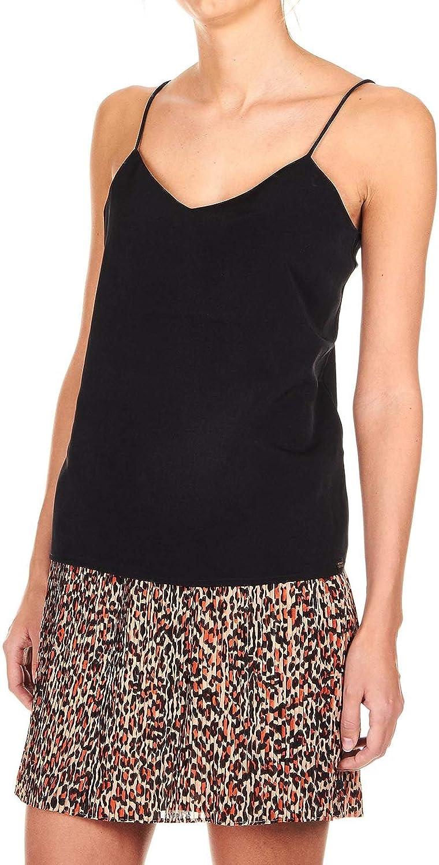 MAISON SCOTCH Women's 1502179108 Black Polyester Tank Top