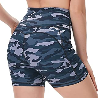 DILANNI High Waist Yoga Shorts for Women Workout Running Athletic Biker Shorts Side Pockets 5""