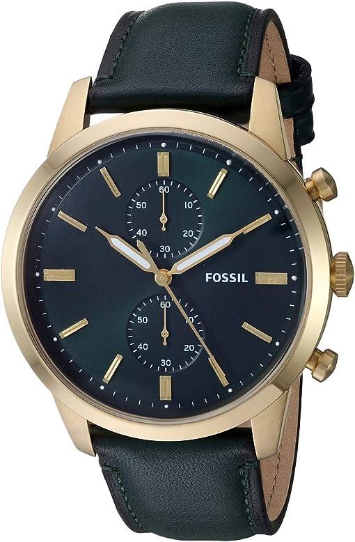 FS5599 Gold Dark Green Leather