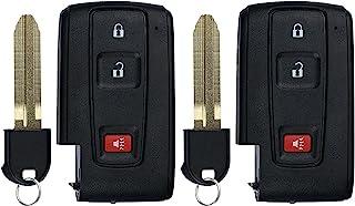KeylessOption Keyless Entry Remote Control Car Key Fob for 2004-2009 Toyota Prius MOZB21TG (Pack of 2)