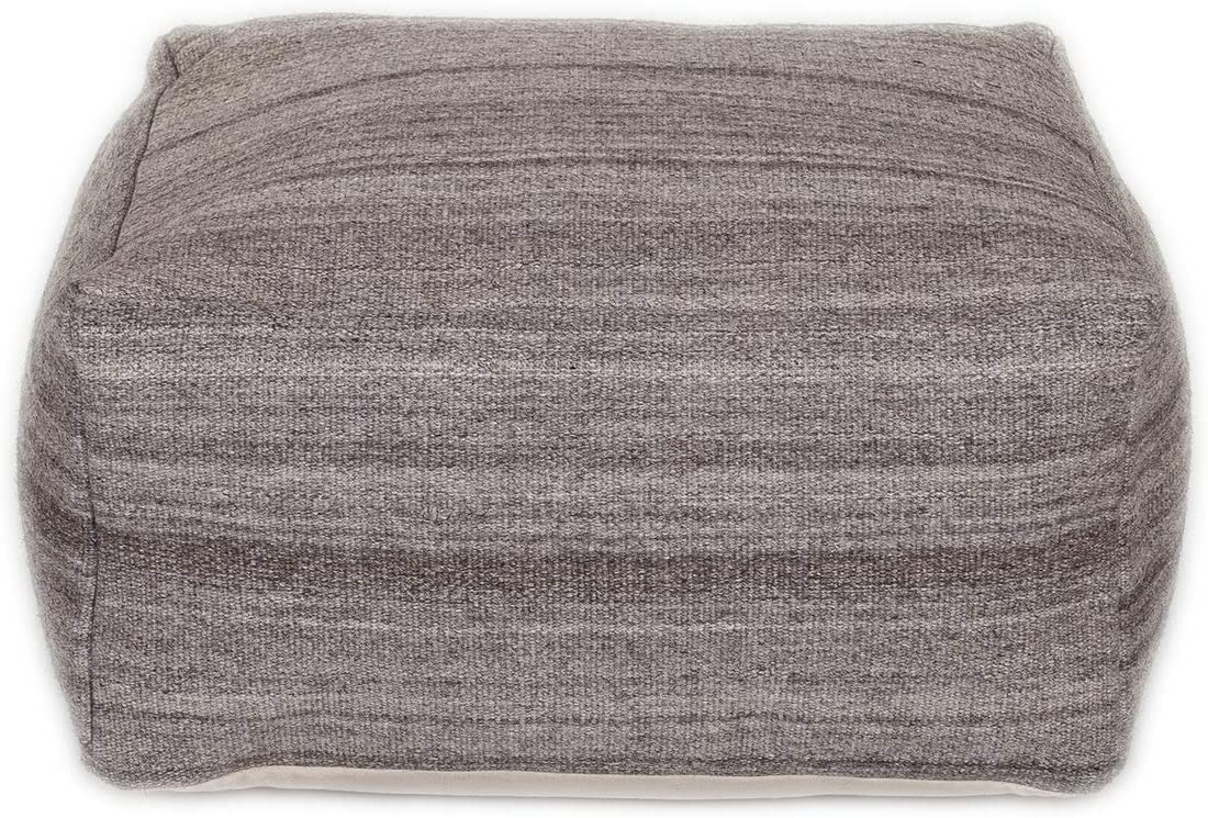 Parkland Collection Nadia Transitional Brown Pouf Grayish 55% shop OFF