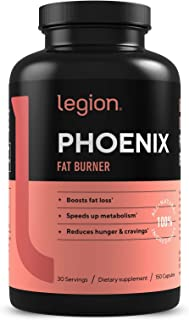 Legion Phoenix Thermogenic Fat Burners & Weight Loss Pills for Men & Women - 100% Natural & Caffeine Free Dietary Suppleme...