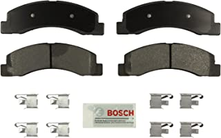 Bosch BE756H Blue Disc Brake Pad Set with Hardware for Select 1999-04 Ford F-250, F-350, Super Duty Trucks - FRONT