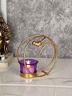 CraftVatika Tealight Candle Holder for Home Diwali Decoration Items Iron Bird Tea Light Candle Holders Stand for Table Top...