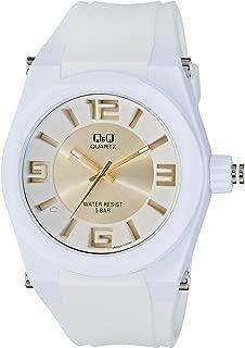 Q&Q Men's White Dial Fiber Band Watch - VR32J011Y
