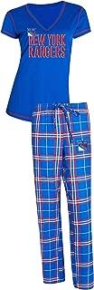 Concepts Sport New York Rangers NHL Super Duo Women's T-Shirt & Flannel Pajama Sleep Set