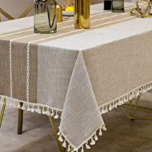Deep Dream Tablecloths, Stitching Tassel Table Cloth,Cotton Linens Wrinkle Free Anti-Fading,Table Cover Decoration for Kit...