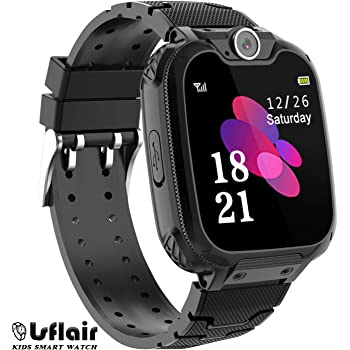 Children's Smart Watch Phone - Smart Watch for Boy Girl Music Kids Watch Funny Game HD Touch Screen Sports Kid Smartwatches with Call Camera Alarm Clock Music Player, Suitable for Aged 4-12(Black)