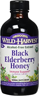Oregon's Wild Harvest Black Elderberry Honey Organic, 4 Ounce