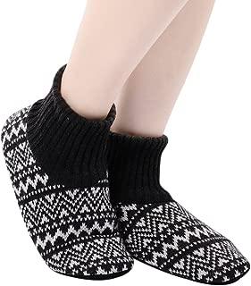 Fluffy Slipper Socks with Non Slip Women House Lined Socks Boat Super Cozy Hospital Slippers