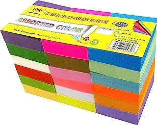 4A Notas adesivas, 3,5 x 4,5 cm, tamanho pequeno, adesivo no lado mais longo, neon sortidas, notas autoadesivas, 18 cores,...
