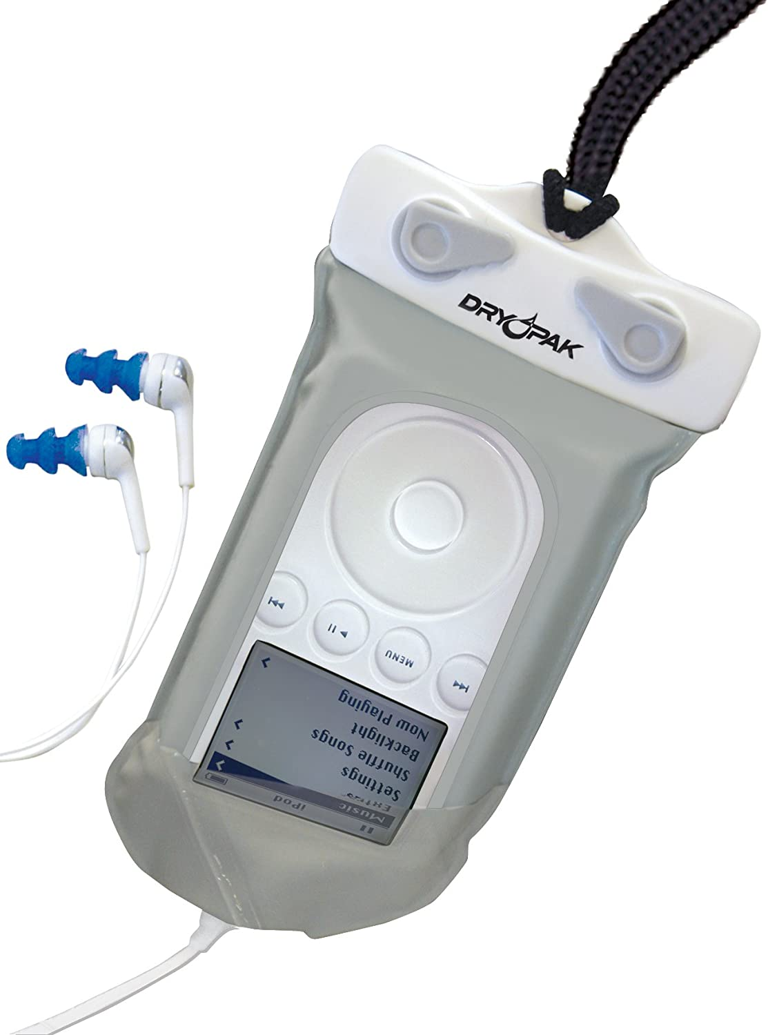 Kwik Tek Dry Pak Waterproof Mp3 Case with Earbuds