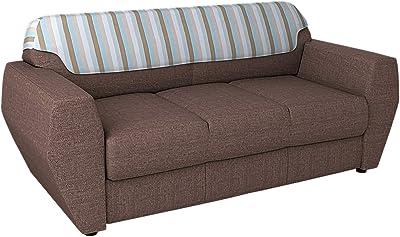 Godrej Interio Facet Three Seater Sofa (Brown, Matte Finish)