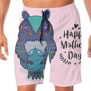 水着 海パン ショートパンツ サーフパンツ メンズ ハワイ Card For Mothers Day With Owls プール 防水速乾 水陸両用 ゴムウエスト