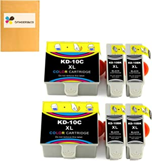 Compatible Kodak 10XL 10B 10C Combo Ink Cartridge Replacement for Kodak Easyshare 5100 5300 5500 ESP3250 ESP5250 ESP3 ESP5...