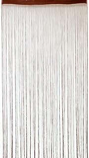 Deichflausen Gardinenbox - Cortina de Hilos (100 x 200 cm, con Perlas), Color marrón