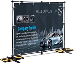 T-SIGN 8x8 ft Professional Backdrop Banner Stand Large Heavy Duty Telescopic Step and Repeat, Trade Show Photo Booth Background, Carry Bag, Sand Bags