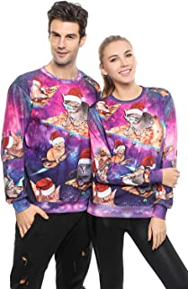 Sponsored Ad - Unisex Funny 3D Print Ugly Christmas Sweater Party Round Neck Long Sleeve Xmas Pullover Sweatshirt for Men ...