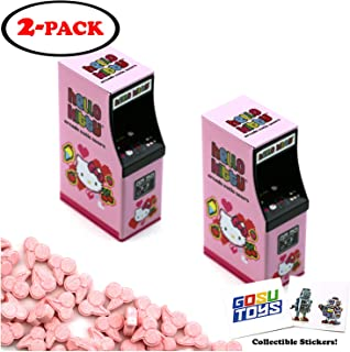 Hello Kitty Arcade Tin Candy (2 Pack) Cherry Flavor Sours Gift Stuffer with 2 GosuToys Stickers