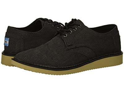 TOMS Brogue (Black Washed Canvas) Men