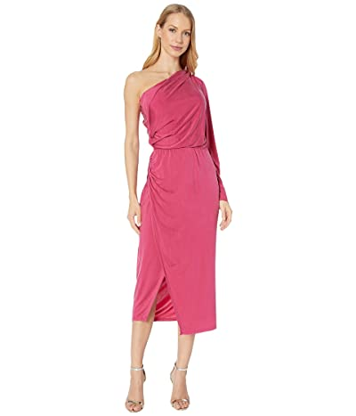 Young Fabulous & Broke Penelope Dress (Cranberry Solid) Women