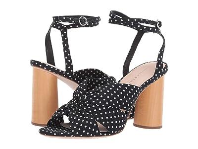 Loeffler Randall Tatiana Cinched Ankle Strap Sandal (Black/Cream Cotton) Women
